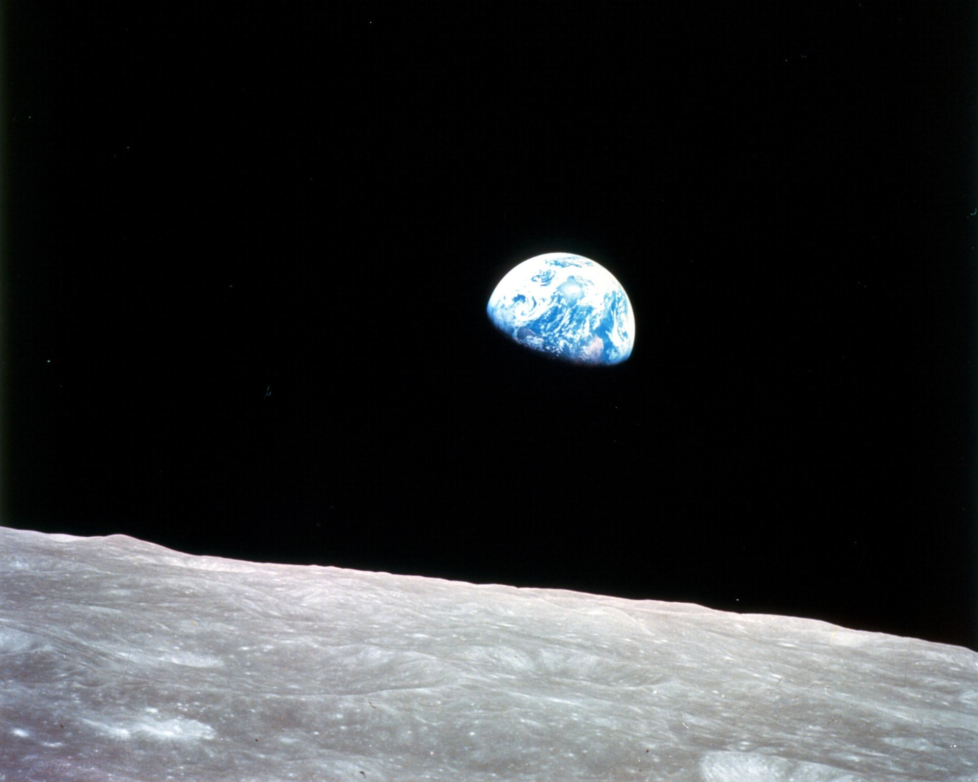 Die Earthrise-Aufnahme des NASA-Astronauten William Anders