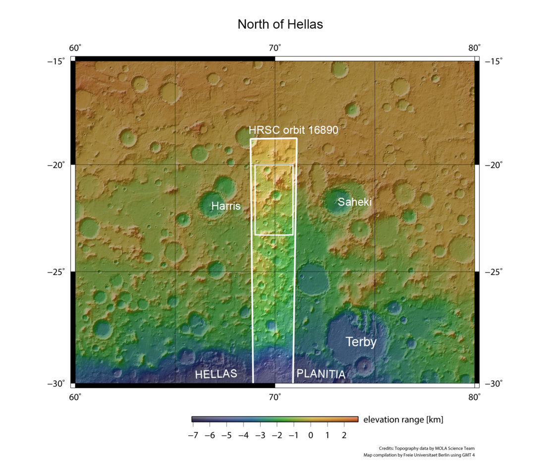 Hellas Planitia and surrounds in context