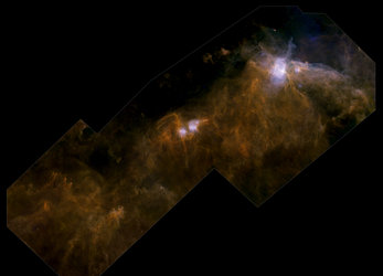 Herschel's view of a molecular cloud