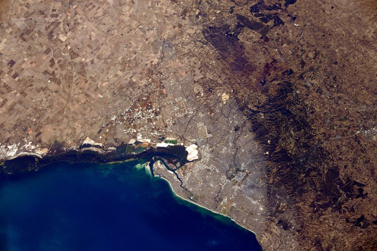 Adelaide, Australia as sen from the ISS