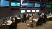 Engineers working on console in the Main Control Room at ESA's ESOC mission control centre, Darmstadt, Germany, on 13 October 2017, just hours before the launch of Sentinel-5P