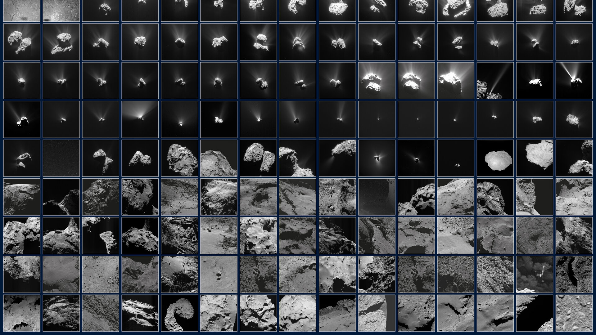 Rosetta's ever-changing view of a comet