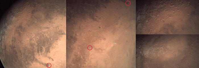 In the week of 18 September 2017, the low-resolution webcam on ESA's Mars Express captured some impressive images from between 3000 km to 5000 km altitude