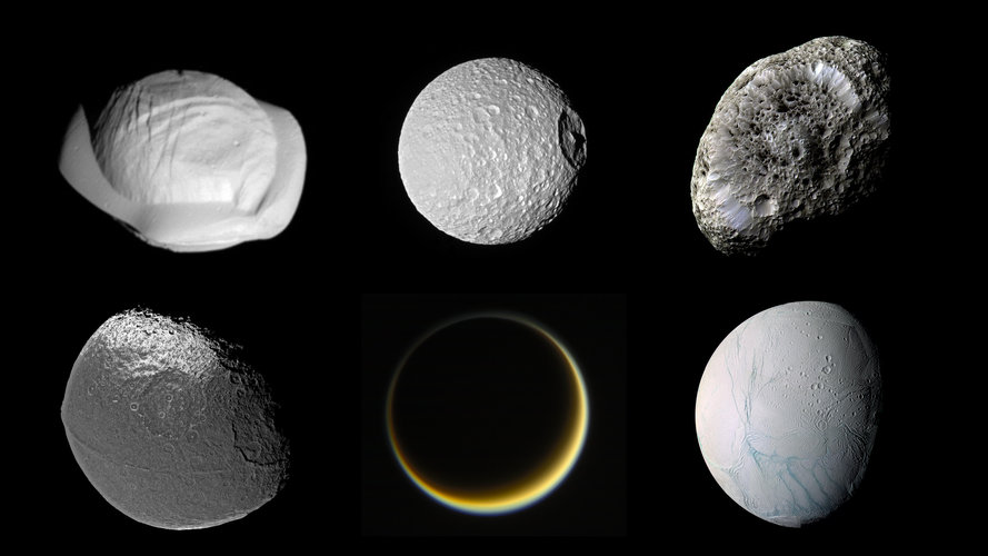 Saturn's moon zoo
