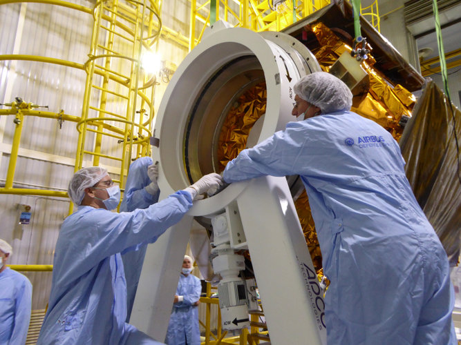 Securing Sentinel-5P in position