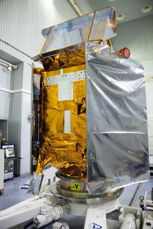Sentinel-5P in position after transit to Plesetsk