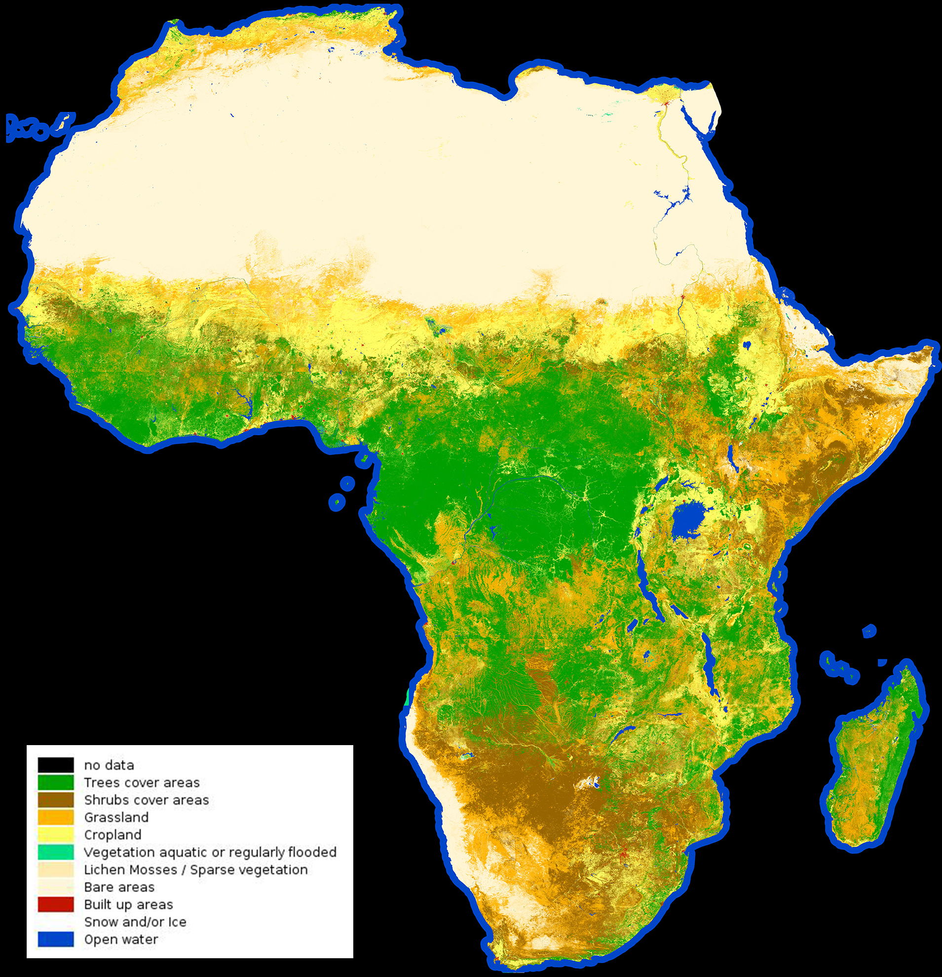 Africa Classified Space For Our Climate Observing The Earth - Africa climate map