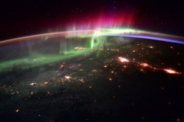 Aurora over northern Canada