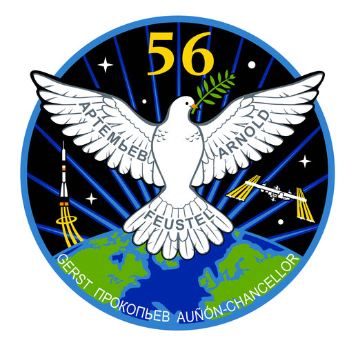 ISS Expedition 56 patch, 2018