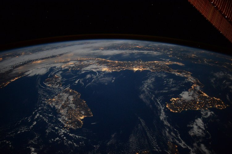 Italy at night from the ISS