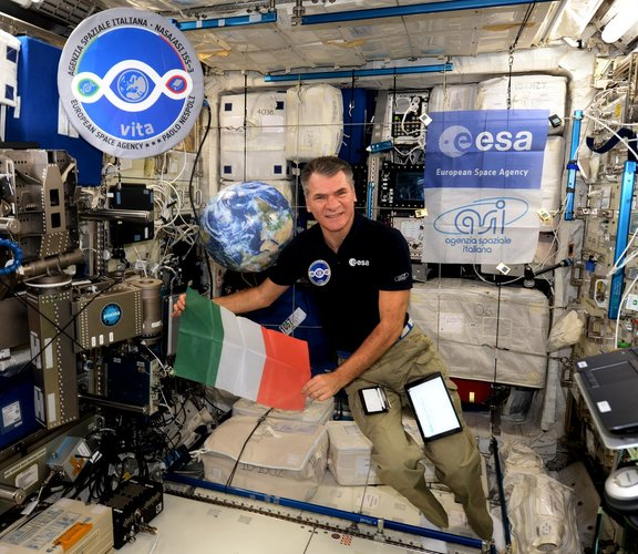 Paolo on the ISS
