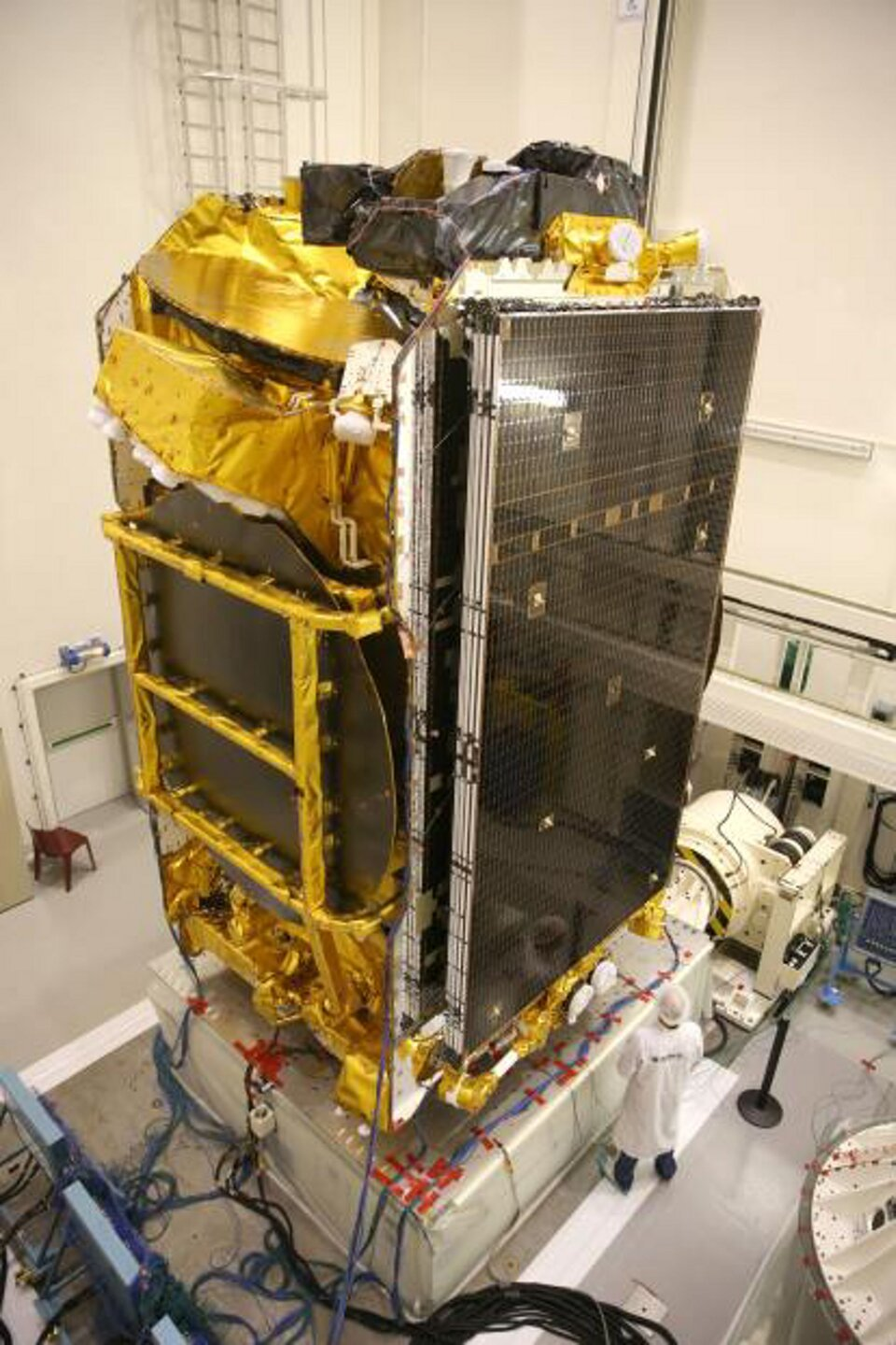 Satellite in testing