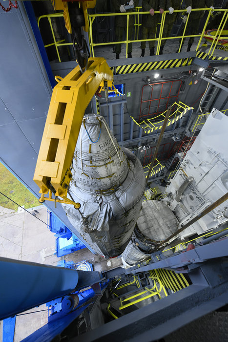 With four days to liftoff, the Sentinel-5P upper composite has been mated to the launcher at the Plesetsk Cosmodrome in northern Russia.