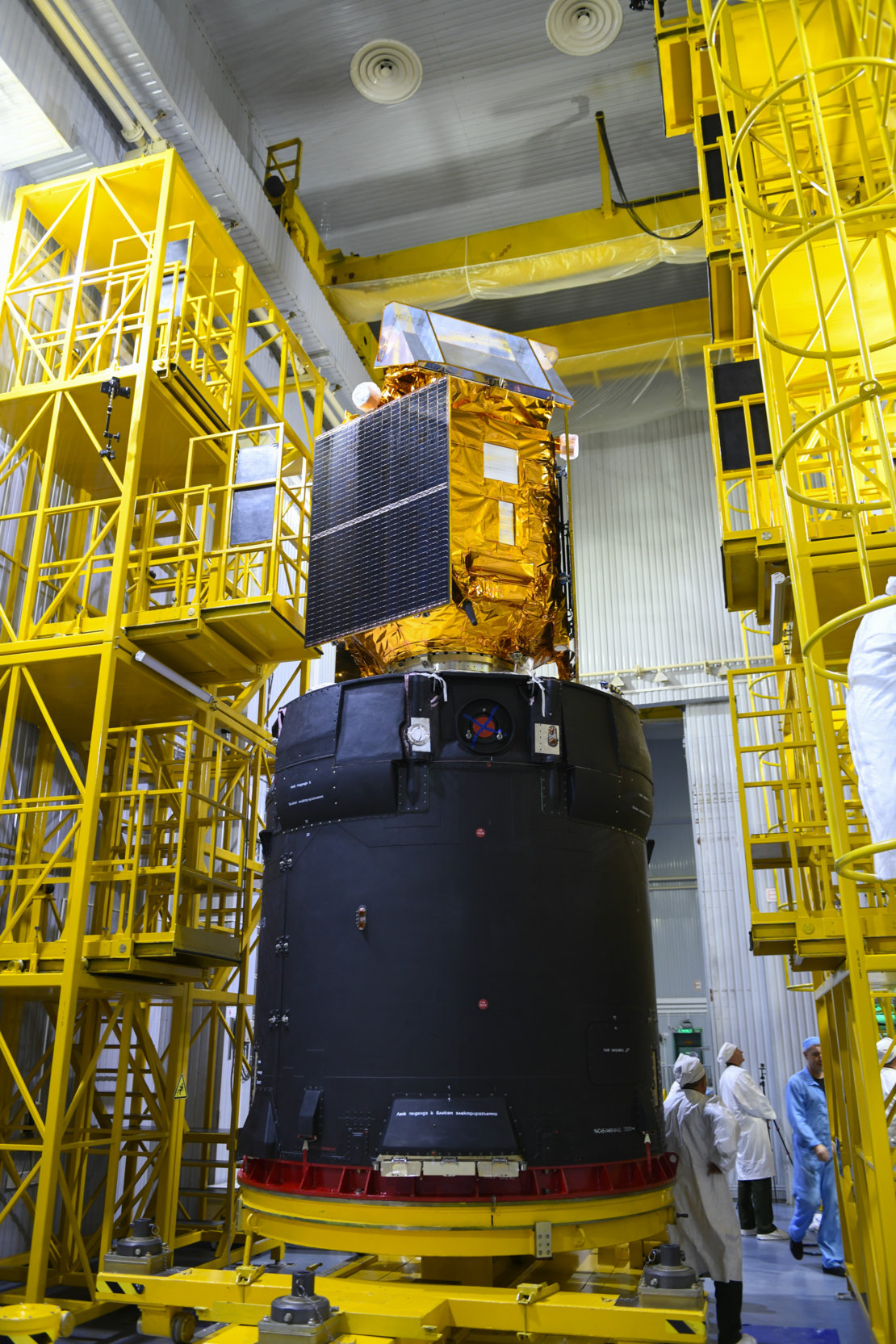 Sentinel-5P ready for encapsulation within the launcher fairing