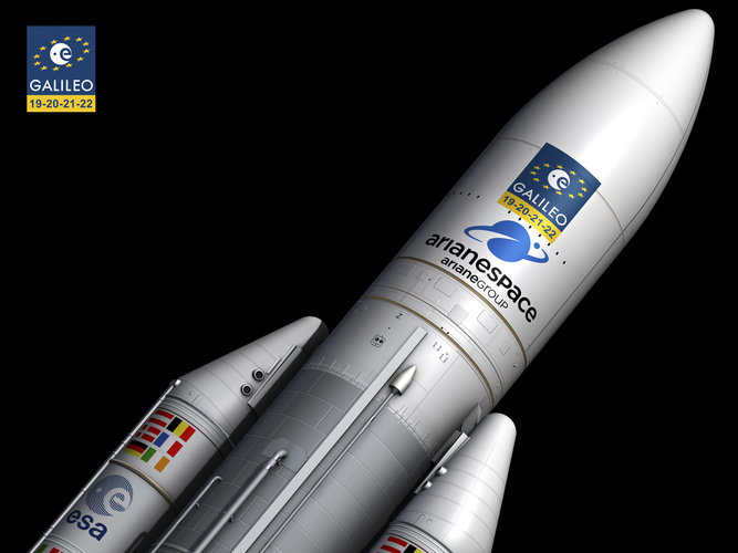 Ariane 5 carrying Galileo satellites
