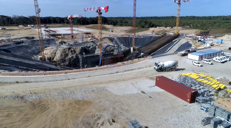 Ariane 6 launch zone taking shape
