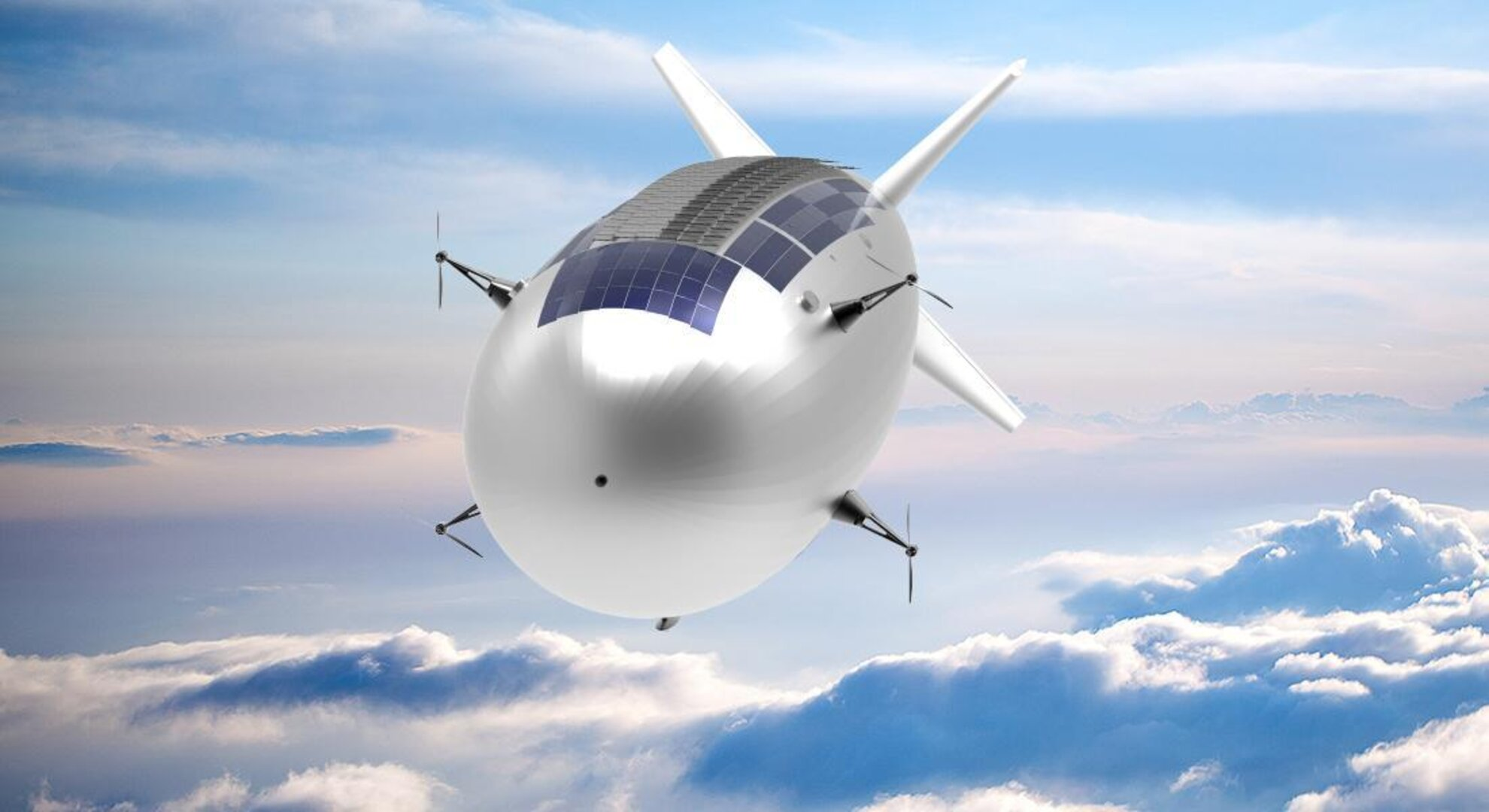 Thales Alenia Space's Stratobus airship, an example of an aerostatic HAPS platform.