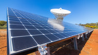 ESA's deep-space ground station at New Norcia, Western Australia, is now being powered in part by sunlight, thanks to a new solar power 'farm' completed in August 2017