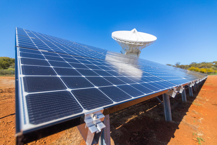 New Norcia solar panels