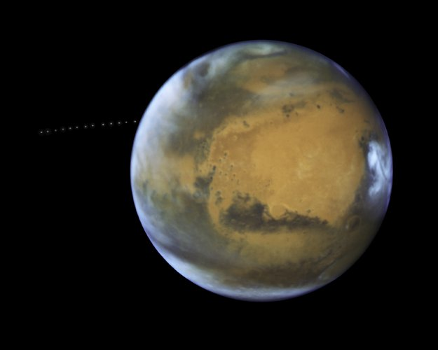 Phobos orbiting Mars