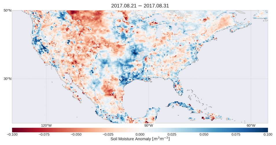 Soil moisture anomalies in the Caribbean