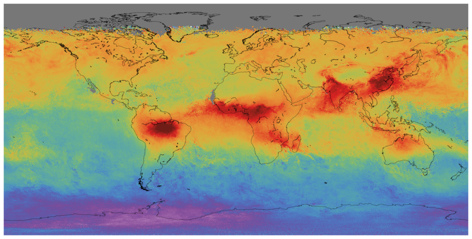 Global carbon monoxide measured by Sentinel-5P