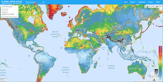 Putting Renewable Energy On The Map Energy Space For Earth