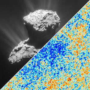 Rosetta's comet and Planck's cosmic microwave background