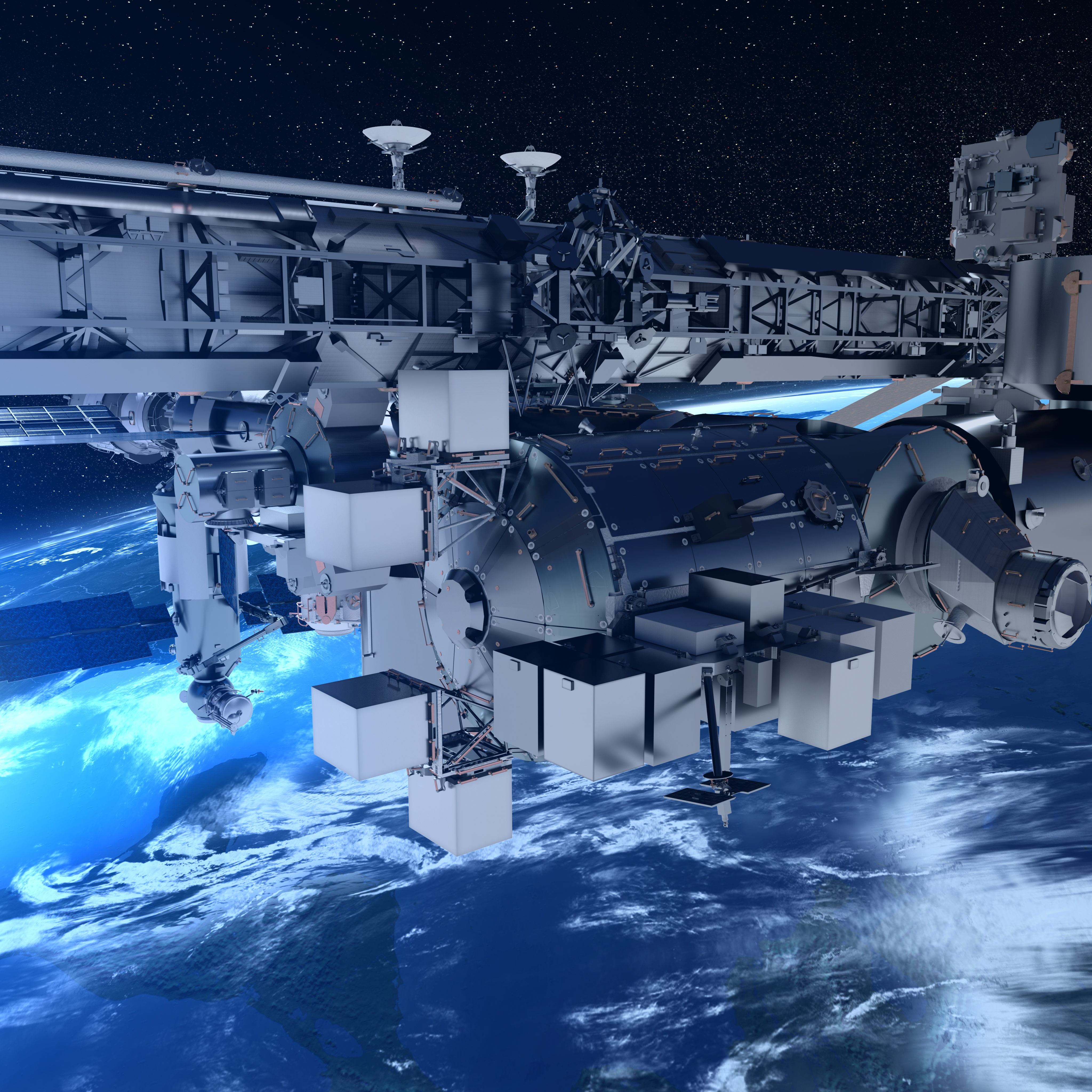 all in one service for the space station columbus human