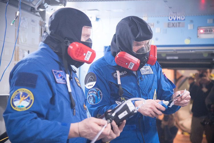 Expedition 56/57 crew members training