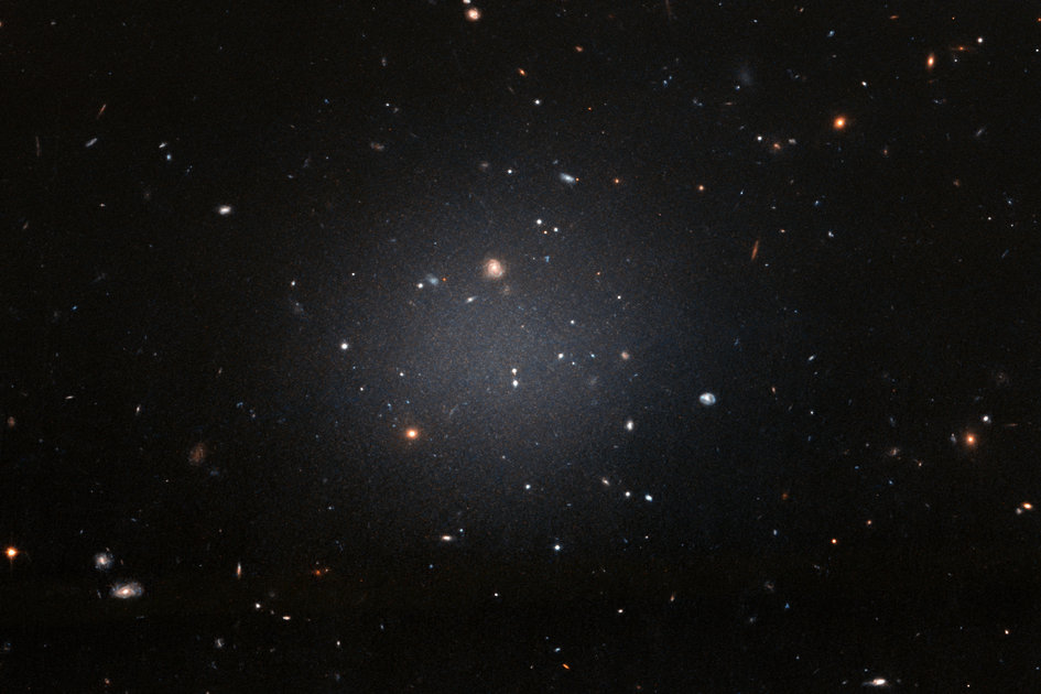 A ghostly galaxy lacking dark matter