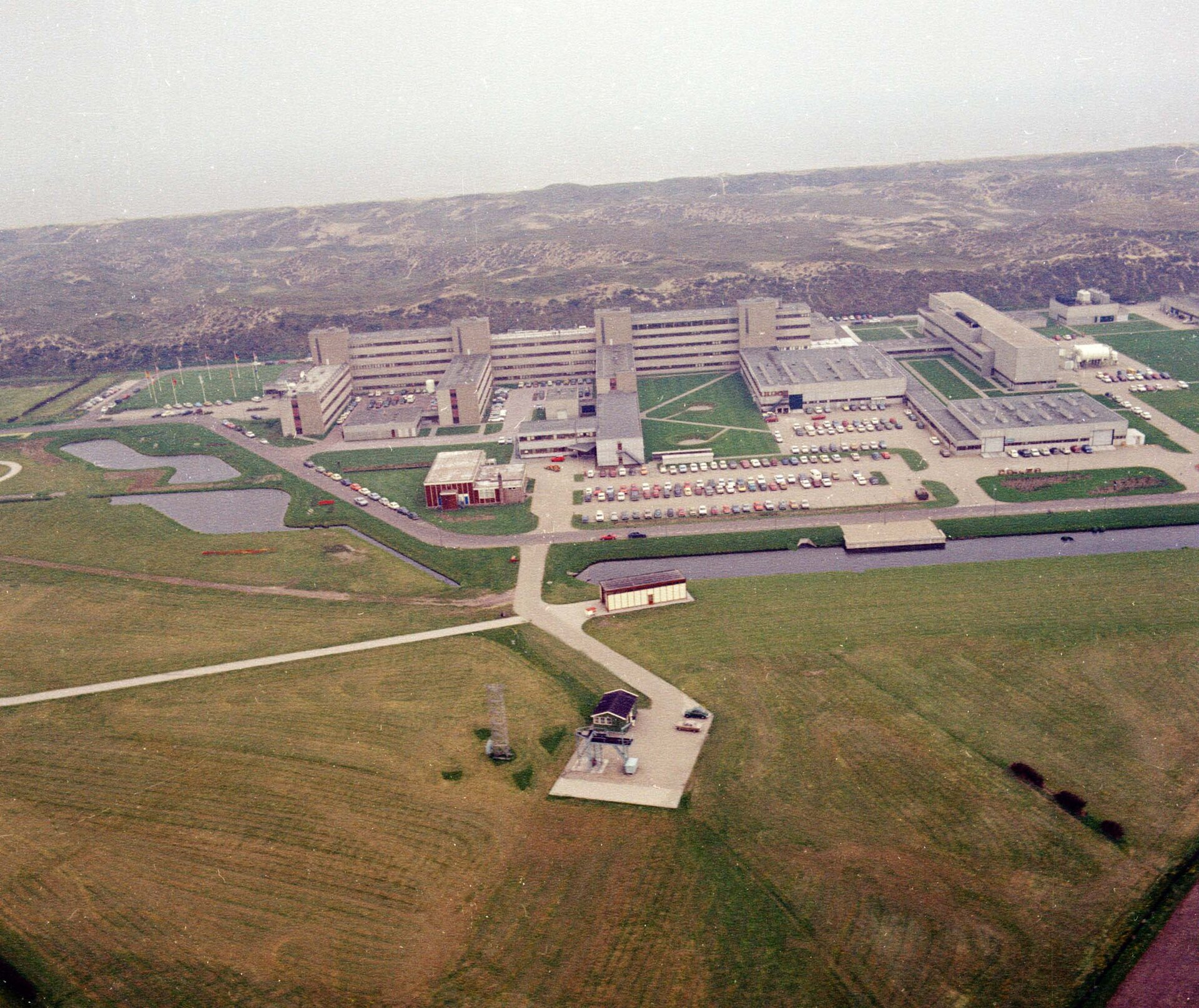 Aerial view of ESTEC in 1972
