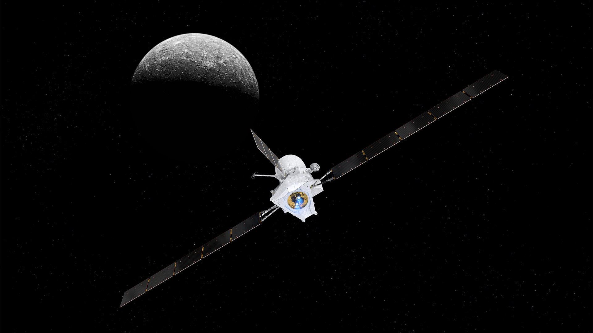It takes seven years and nine gravity-assist manoeuvres for the BepiColombo mission to reach its destination
