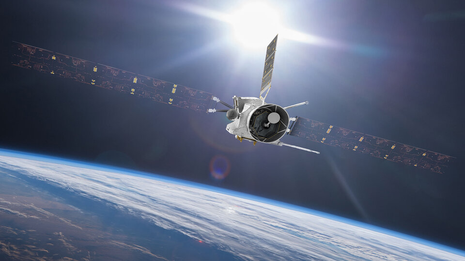 Artist's impression of BepiColombo's upcoming Earth flyby