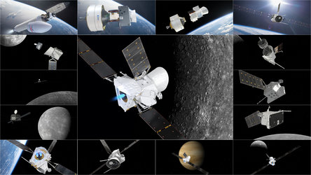 BepiColombo image montage