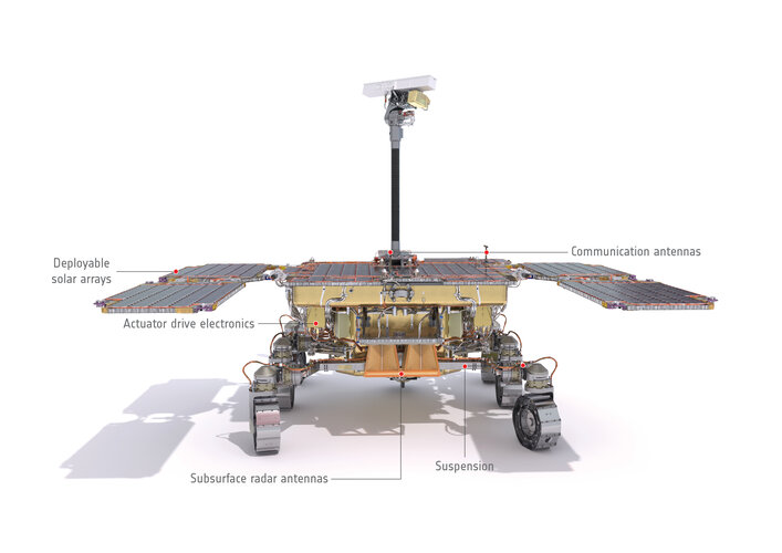 Rear view of the ExoMars rover