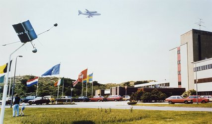 Space Shuttle over ESTEC, 1983