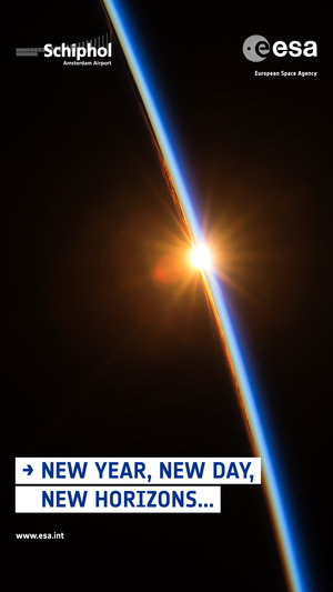 ESA Schiphol-poster: New Year, New Day, New Horizons (2)