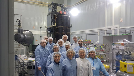 Sentinel-3B launch campaign team