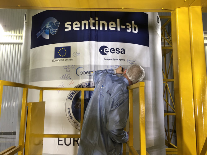Sentinel-3B signed and sealed