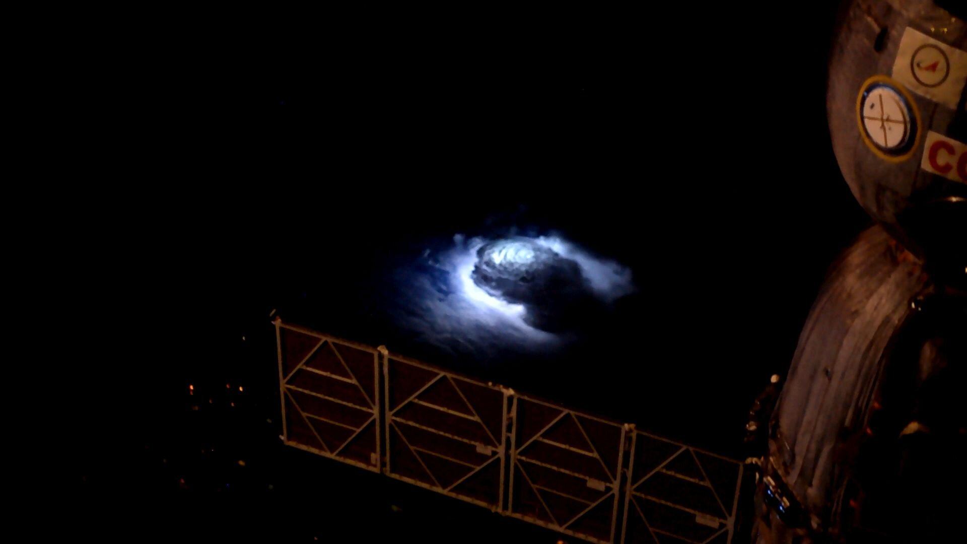 Thunderstorm seen from Space Station