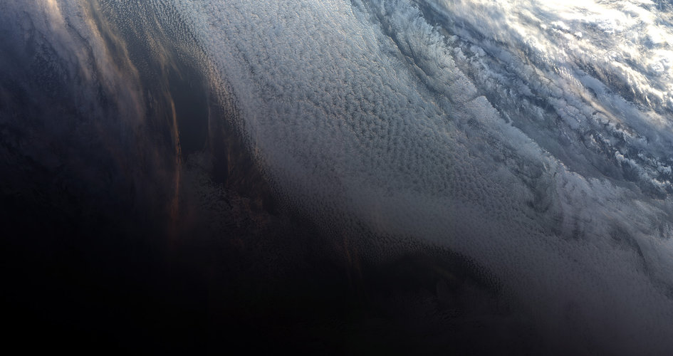 Antarctic sunset from Sentinel-3B