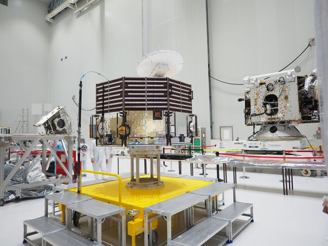 BepiColombo unpacked at the Spaceport