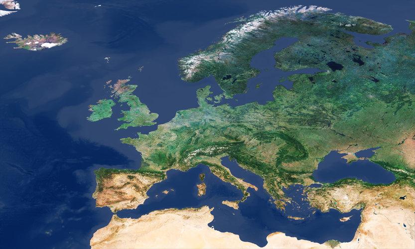 Cloud-free Europe