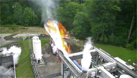 First hot fire test of ETID demonstrator