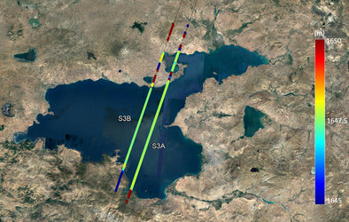 Lake Van water height from Sentinel-3B