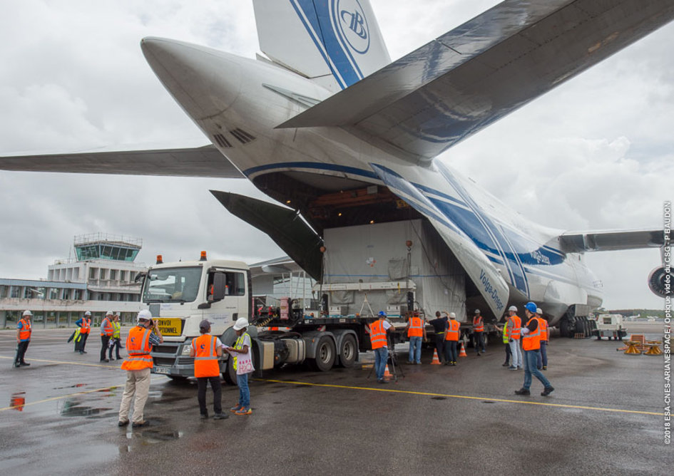 MTM arrives in Kourou