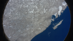 [10/12] Students from 'The Earth Watchers' team captured this image that shows snow and ice in Lake Superior, Canada!