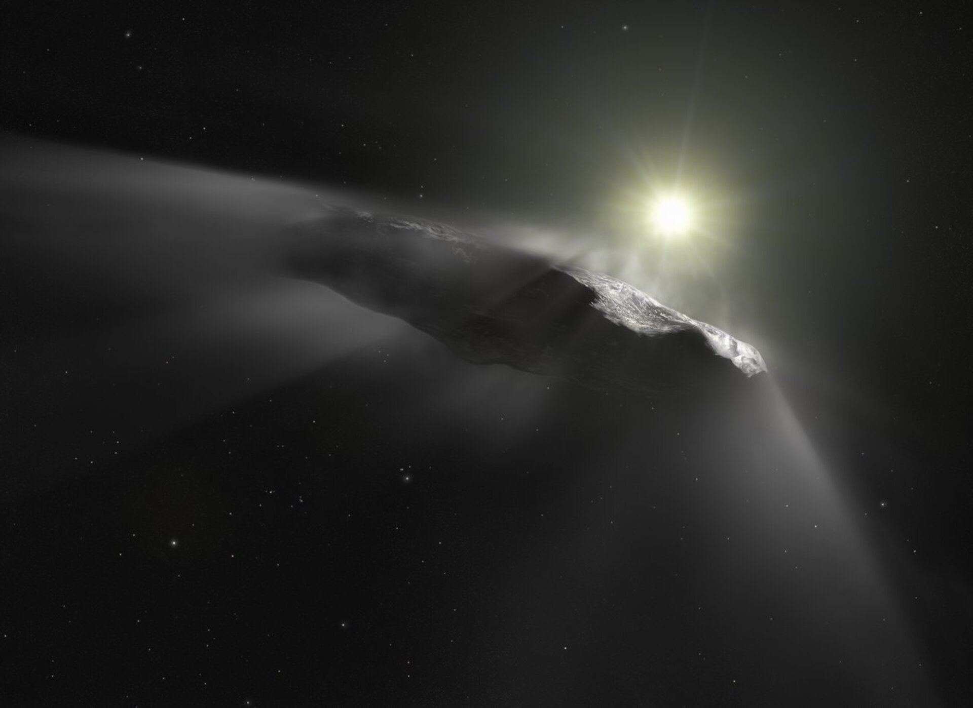 Artist impression of 'Oumuamua
