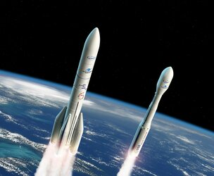 Artist's view of Ariane 6 and Vega-C